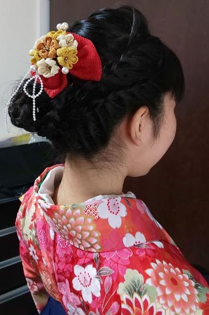 '20小学生女の子袴着付けヘアセット