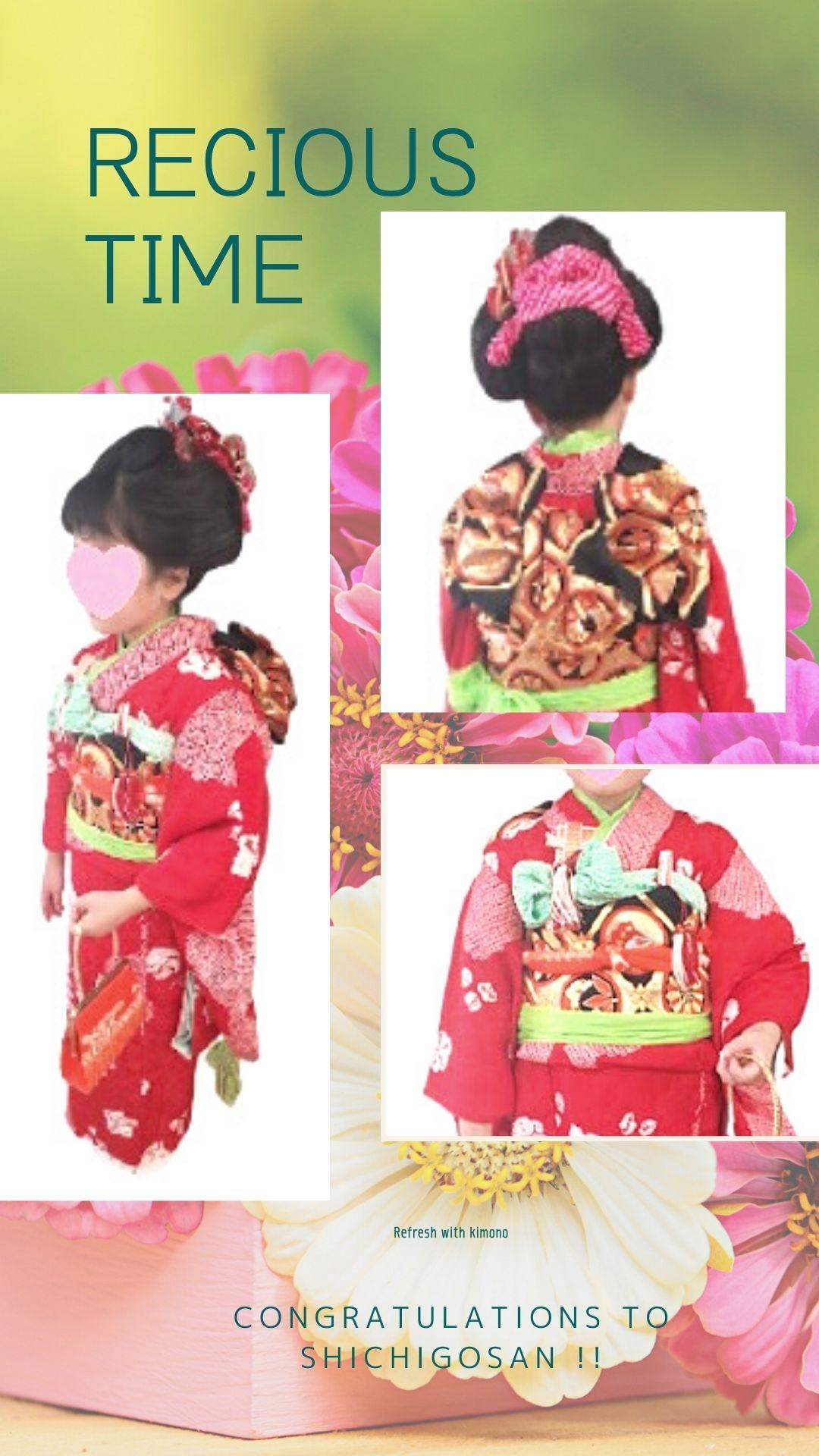 20211002七五三7歳女の子日本髪手結び帯